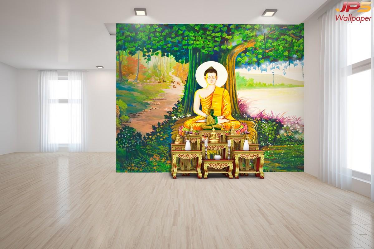 วอลเปเปอร์ลายพระพุทธเจ้านั่งใต้ต้นโพธิ์