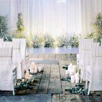 บริการพิมพ์วอลเปเปอร์ติดผนัง ลายแบ็คกราวงานแต่งงาน ภาพดอกไม้สีขาว ตกแต่งผนังสถานที่จัดงาน