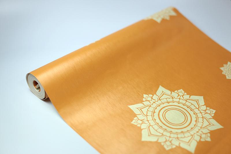 ขายส่งวอลเปเปอร์ลายไทย ลายดอกดาว โทนสีเหลือง